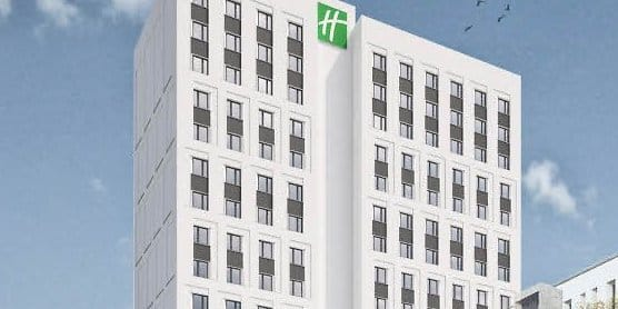 Umbau altes gother hochhaus wird holiday inn hotel for Guesthouse anfang