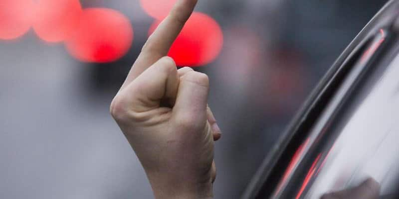 Middle finger in road transport is expensive