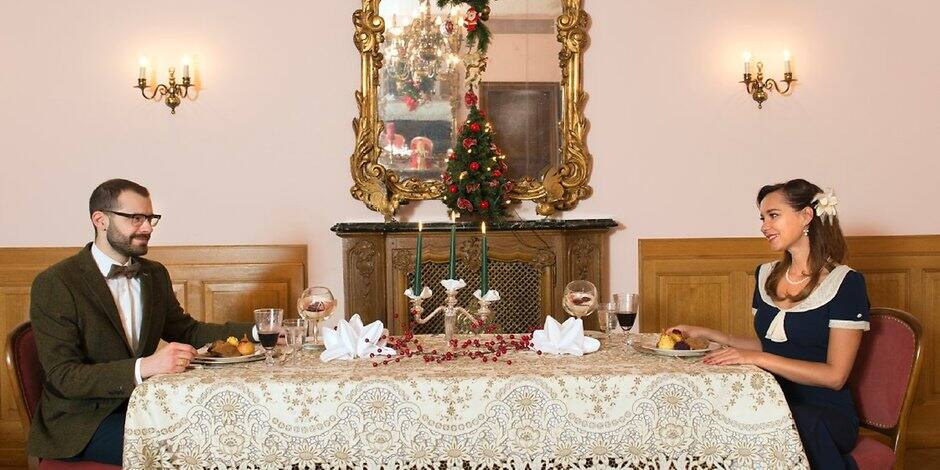 nostalgisches fest so feiern sie weihnachten wie fr her. Black Bedroom Furniture Sets. Home Design Ideas