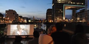 Rheinauhafen open air kino worring