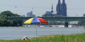 Sommerliche Temperaturen in Köln