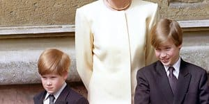 Diana mit Harry und William