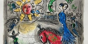 Marc Chagall: Soleil au Cheval rouge