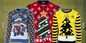 Header Ugly Christmas Sweater Fußball.