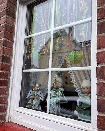 The window of Liblars KG president Josef Baratella is one of many in the village that reminds of carnival.