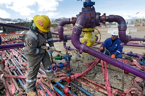 Gasförderung mit Fracking in Colorado, USA