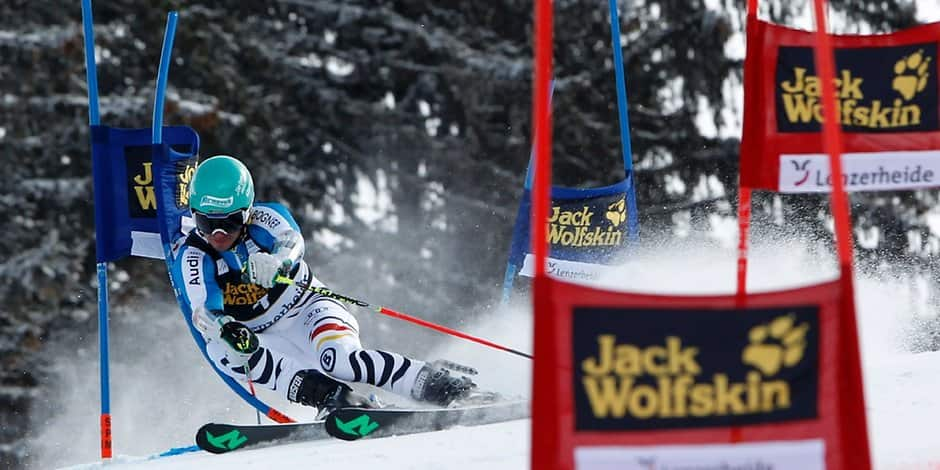 Felix Neureuther beim Riesen-Slalom in Lenzerheide
