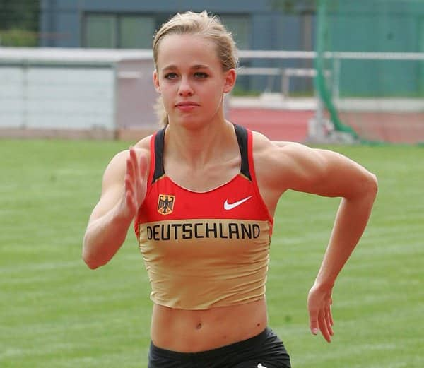 Leena Günther beim Training.