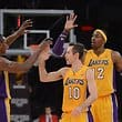 High Five bei den Los Angeles Lakers.